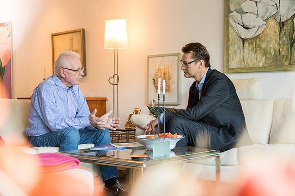 Der Immobilienrenten-Vertrag wurde nach den Wünschen von Joachim Rickauf gestaltet und angepasst